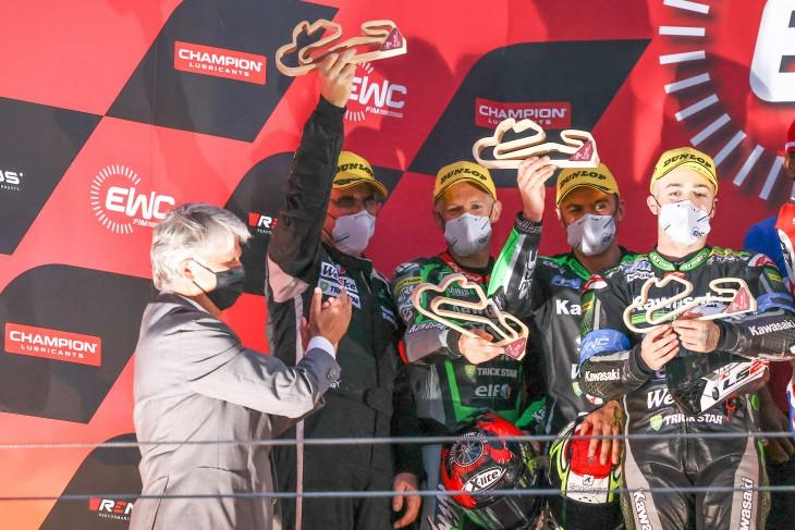 Ewc_12_H_Estoril_2021_National Motos, Egea Stéphane, Guillaume Antiga, Enzo Boulom, Honda CBR 1000RR, Superstock
